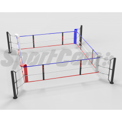 Ground-anchored boxing ring...