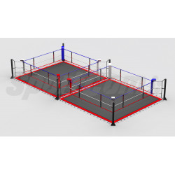 Double boxing ring posts...