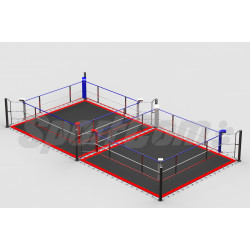 Double boxing ring with...