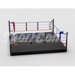 Training boxing ring with a...