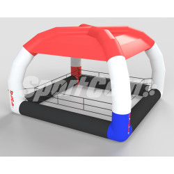 Inflatable boxing ring with...