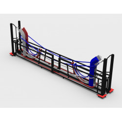 Foldable boxing ring
